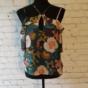 Lily White off shoulder strappy top. Size XS